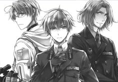 America, England and France from Hetalia. (Canada's there too but he's a ninja so you cant see him (;)