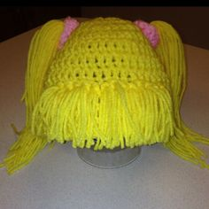 crochet pattern - pigtail baby beanie
