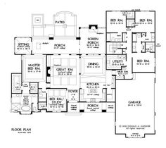 Plan of the Week over 2500 sq ft - The Roseburg 1378!  3360 sq ft, 5 beds, 4 baths. #WeDesignDreams