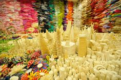 Tapigami came to Maker Faire Bay Area last year with a gorgeous fantasy cityscape installation, made entirely of tape!
