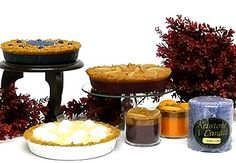 pie candles cake candles