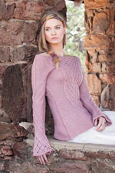 Ravelry: Hunger for Rampion Pullover pattern by Jennifer Hagan