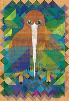 Christian Montenegro - Kiwi - illustrations for Wellington zoo Geometric Graphic, Graphic Art, Wellington Zoo, Baby Grows, Montenegro, Graphic Design Illustration, New Zealand, Illustrators, Birds