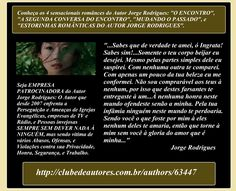 "BE ENTREPRENEUR OF WRITTEN AND PROJECTS OF JORGE RODRIGUES AUTHOR Whatever book of #autorJorgeRodrigues in ""WWW.CLUBEDEAUTORES.COM.BR"" R$ 27.00 for you to buy.   Visit the two pages of the author. ALL MY WORK >>> https://pt.scribd.com/doc/258750223/Meu-Curriculo-My-Resume OTHER GENDER (Romances, Monographs, Musical Instruments, Books) http://clubedeautores.com.br/authors/63447 MARTIAL ART #SIMFUJE http://clubedeautores.com.br/authors/86334"