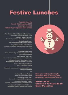 Festive Lunches @kimberley_hotel Christmas And New Year, Christmas Time, Mistletoe And Wine, Lunches, Festive, Eat Lunch, Meals, Lunch, Lunch Meals
