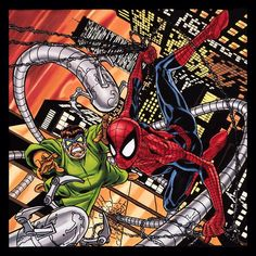 Amazing #pick of #Spiderman fighting #DoctorOctopus.