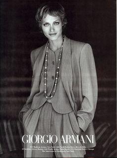 Photo Peter Lindbergh Model Amber Valletta US VOGUE AUGUST 1993