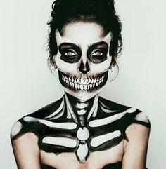 Halloween makeup- Sugar Skull makeup for Monster. #halloween #makeup                                                                                                                                                      More