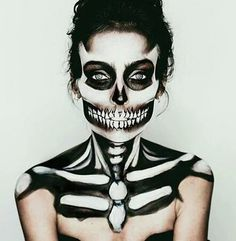 Halloween makeup- Sugar Skull makeup for Monster. #halloween #makeup