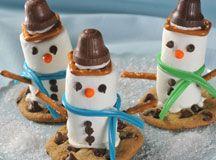 Marshmallow Snowmen! Yum!
