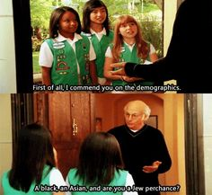 Curb Your Enthusiasm.. I don't even care if I've pinned this before... It gets me every time
