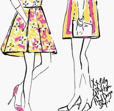 Inspired by the fabulous fashion illustrations of Garance Dore