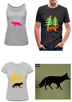 Motiv für T-Shirts, Hoodies und Accessoires... #Fox #Fuchs #Shirt #Tshirt #Wald #Silhouette #print #shop #bedruckt #spreadshirt #kaufen #Farbe #vectorgraphic #Zeichnung #illustration #Umriss #Natur