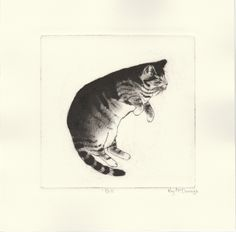 'Bill' Drypoint Etching by Kay McDonagh.  Original prints available.
