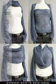 DiaryofaCreativeFanatic: Needlecraft - Knit,Sew,Crochet - Criss Cross Shrug