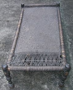 woven cot. you can see people in the rural areas sitting & sleeping out side…