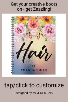 Modern Floral Gold Glitter Hair Appointment Notebook #appointment #book #hairstylist #hair #salon #Notebook #PermanentHairRemovalCream Facial Hair Removal Cream, Chin Hair Removal, Underarm Hair Removal, Electrolysis Hair Removal, Permanent Facial Hair Removal, Remove Unwanted Facial Hair, Unwanted Hair, Glitter Hair, Gold Glitter