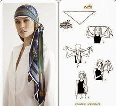 Tejidos realizados con amor para ti ...: Como utilizar pañuelos en la cabeza.