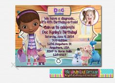 Doc mcstuffins inspired chip bags doc mcstuffins inspired favor what little girl doesnt love doc mcstuffins this will be a darling invitation to have inviting your guests to your party filmwisefo