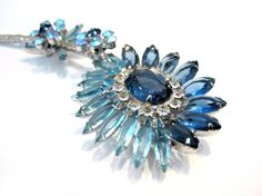 Vintage Juliana Delizza Elster Brooch Blue by SoBejeweled on Etsy