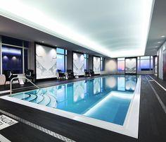 Quartz Crystal Spa™ Lap Pool at Trump International Hotel & Tower Toronto®. Luxury Swimming Pools, Luxury Pools, Indoor Swimming Pools, Lap Pools, Adelaide Hotels, Toronto Hotels, Trump International Hotel, Modern Pools, Hotel Pool