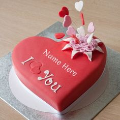 Love You Birthday Cake With Name Edit Create with your name online. with custom name generator online. latest designer cake with name and photo. Customized romantic your name cake i love u birthday cake with name edit at Crea Birthday Cake For Wife, Latest Birthday Cake, Heart Birthday Cake, Birthday Cake For Boyfriend, Happy Birthday Cake Pictures, Birthday Wishes Cake, Birthday Cake With Flowers, Happy Birthday Cakes, Birthday Messages