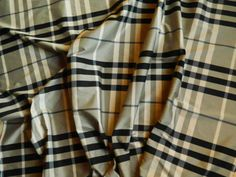 2 metres of Burberry check fabric Check Fabric, Silk Fabric, Plaid Scarf, Burberry, Boys, How To Make, Cotton, Fashion, Baby Boys