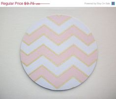 SALE  Mouse Pad mousepad / Mat  round  Shiny gold pink by Laa766