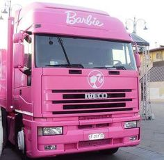 IVECO PINK Go Pink, Cute Pink, Pink Girl, Pink And Gold, Barbie Life, Barbie World, Barbie Truck, Pink Blood, Pink Truck