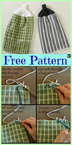 Ideas crochet bag holder pattern stitches for 2019 Dishcloth Knitting Patterns, Crochet Dishcloths, Loom Knitting, Knitting Stitches, Crochet Patterns, Knitting Abbreviations, Knitting Ideas, Crochet Towel Tops, Crochet Kitchen Towels