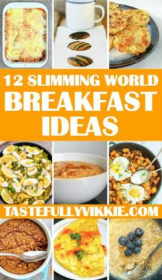 12 Slimming World Breakfast Ideas – Tastefully Vikkie Stuck for something healthy to eat in a morning? Then here's a list of 12 Slimming World breakfast ideas put together to help you start the day like a king. Slimming World Breakfasts Free, Slimming World Lunch Ideas, Slimming World Dinners, Slimming Eats, Slimming World Breakfast Muffins, Slimming Word, Healthy Breakfasts, Healthy Meals, Slimming World Speed Food
