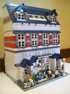 Lego Modular School: A LEGO® creation by Luca Fusar Bassini : MOCpages.com
