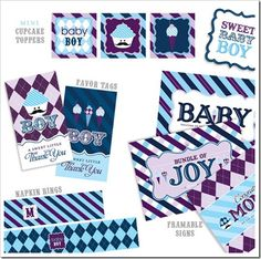 free printable baby sprinkle boy decorations | baby shower freebies including baby shower printables such as baby ...
