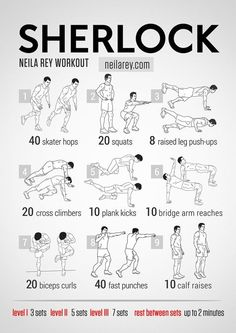 "Neila Rey Workout, Sherlock and other (free) ""fanboy/girl"" inspired workouts."