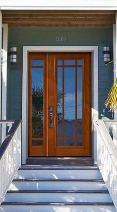 Modern Front Door With French Doors Glass Panel Door
