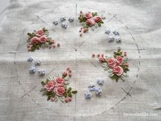 Wonderful Ribbon Embroidery Flowers by Hand Ideas. Enchanting Ribbon Embroidery Flowers by Hand Ideas. Ribbon Embroidery Tutorial, Silk Ribbon Embroidery, Crewel Embroidery, Cross Stitch Embroidery, Embroidery Tattoo, Embroidery Saree, Brazilian Embroidery Stitches, Types Of Embroidery, Learn Embroidery