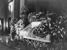 Vintage funeral set-up