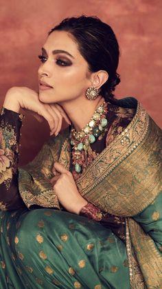 Deepika Padukone Looks Royal As She Decks Up In Sabyasachi Saree For Reliance Foundation 10 Year Anniversary - HungryBoo Deepika Padukone Saree, Shraddha Kapoor, Ranbir Kapoor, Indian Celebrities, Bollywood Celebrities, Bollywood Actress, Bollywood Makeup, Bollywood Fashion, Indian Designer Outfits