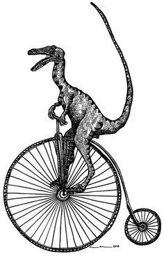 VELOciraptor  A Dinosaur on a Penny-farthing.