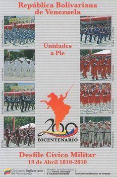 Postal: Unidades a Pie 3/6 (Venezuela) (Ipostel - Military Civic Parade April 19, 1810 - 2010) Col:ve_ipostel_DCM_03