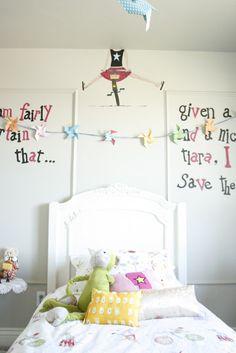 Guirnalda en cuartos de niñas