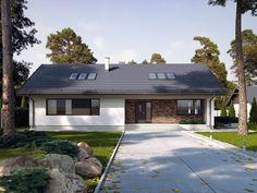 Compact Home Contemporary decor Rural House, Bungalow House Plans, Bungalow House Design, My House, Modern Bungalow Exterior, Garage Workshop Plans, Sweden House, Modern Ranch, Facade House