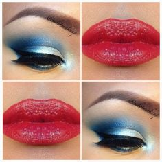 Wave the Flag: Red White and Blue Makeup for 4th July ...