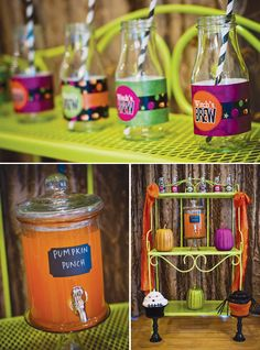 Halloween party drinks  party drinks decor halloween kids party ideas theme party