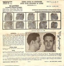 ORIGINAL 1949 FBI WANTED POSTER DeForest Harding Glassey STOLEN VEHICLE PROPERTY