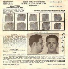 ORIGINAL 1949 FBI WANTED POSTER DeForest Harding Glassey STOLEN VEHICLE PROPERTY