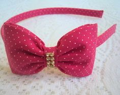 Tiara PINK E BRANCA Bazaar Ideas, Pump It Up, Kids Hair Accessories, Bow Hair Clips, My Princess, Flower Making, Diy Hairstyles, Headbands, Ribbon