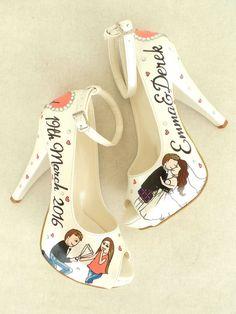Shining stars Custom designed Bridal Shoes by KUKLAfashiondesign