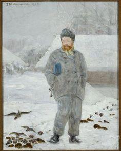 Portrait of Adolf Dygasiński with Birds (Jacek Malczewski - ) Mythology, Master Art, Birds, Baseball Cards, Portrait, Painters, Poland, Polish Language, Artists