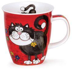 Dunoon - Fine Bone China Mugs - Nevis Shape : Crazy Gang Cat